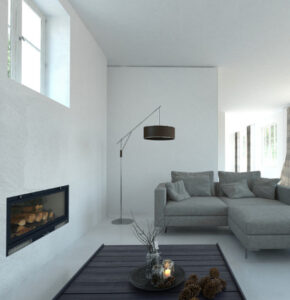 Beautifully painted interior of a modern house in Windsor, ON
